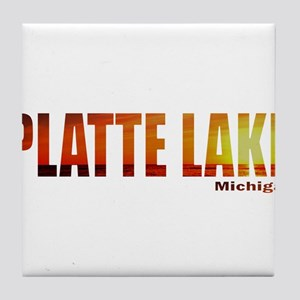 Platte Lake, Michigan Tile Coaster
