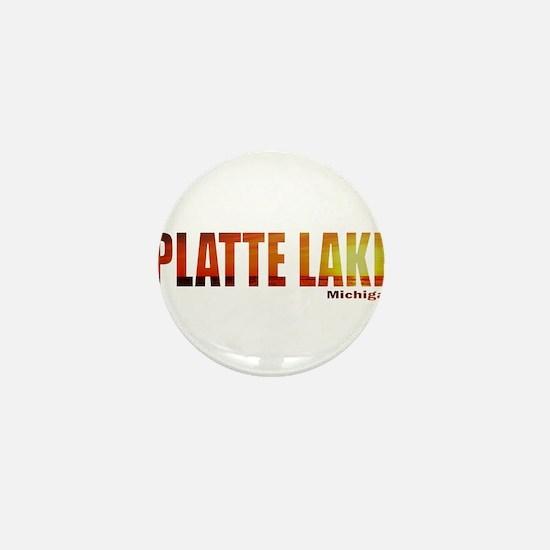 Platte Lake, Michigan Mini Button