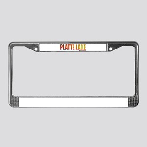 Platte Lake, Michigan License Plate Frame