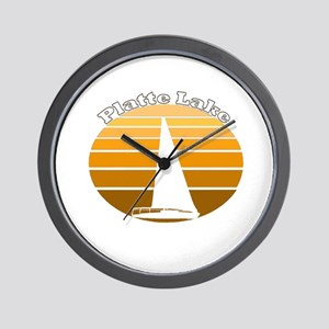Platte Lake, Michigan Wall Clock