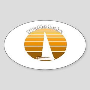 Platte Lake, Michigan Oval Sticker