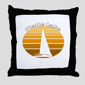 Platte Lake, Michigan Throw Pillow