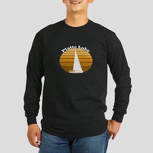 Platte Lake, Michigan Long Sleeve Dark T-Shirt