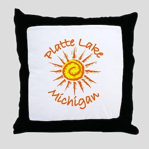 Platte Lake, Michigan Throw Pillow