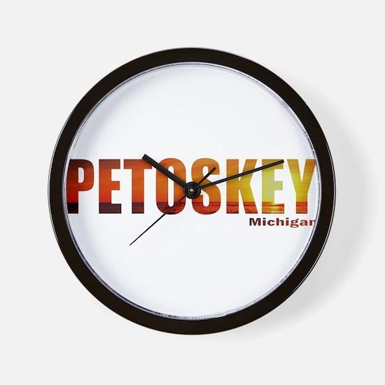 Petoskey, Michigan Wall Clock