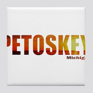 Petoskey, Michigan Tile Coaster