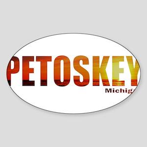 Petoskey, Michigan Oval Sticker