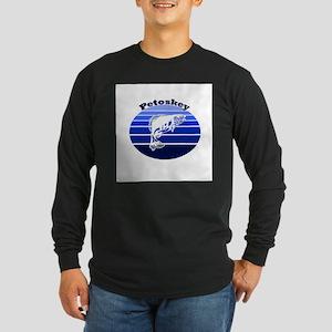 Petoskey, Michigan Long Sleeve Dark T-Shirt