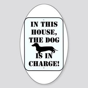 In Charge Oval Sticker