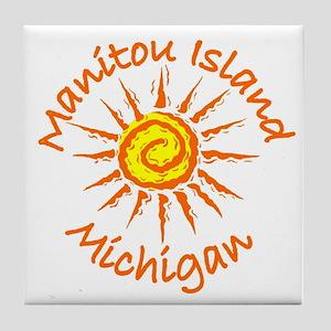 Manitou Island, Michigan Tile Coaster