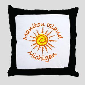 Manitou Island, Michigan Throw Pillow