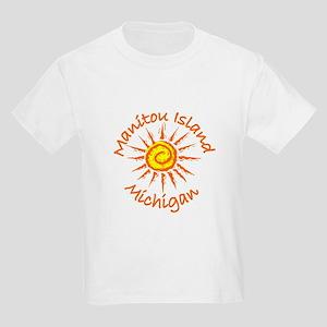 Manitou Island, Michigan Kids Light T-Shirt