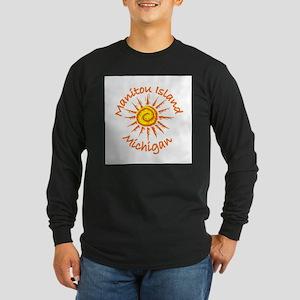 Manitou Island, Michigan Long Sleeve Dark T-Shirt