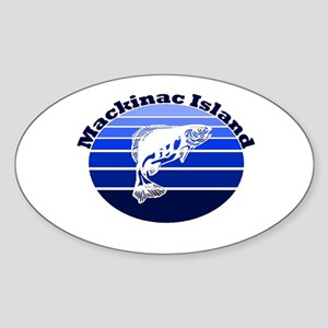 Mackinac Island, Michigan Oval Sticker