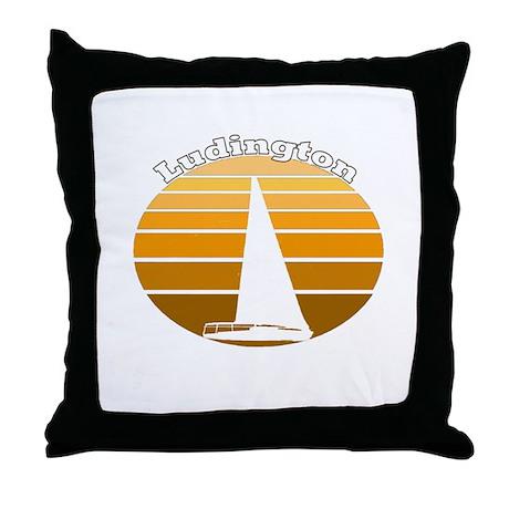 Ludington, Michigan Throw Pillow