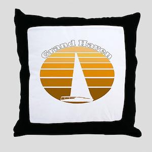 Grand Haven, Michigan Throw Pillow