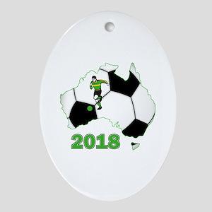 Football World Cup Australia 2018 Oval Ornament