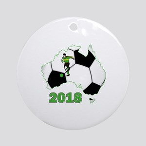 Football World Cup Australia 2018 Ornament (Round)