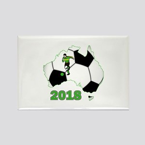 Football World Cup Australia 2018 Rectangle Magnet