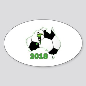 Football World Cup Australia 2018 Oval Sticker