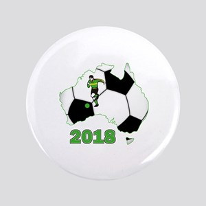 "Football World Cup Australia 2018 3.5"" Button"