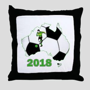 Football World Cup Australia 2018 Throw Pillow
