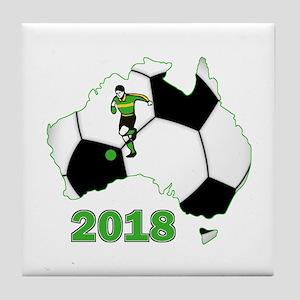 Football World Cup Australia 2018 Tile Coaster