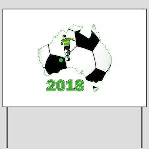 Football World Cup Australia 2018 Yard Sign