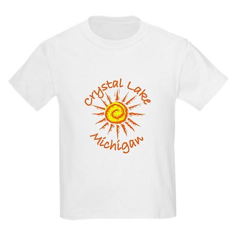 Crystal Lake, Michigan Kids Light T-Shirt