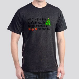 Dance Teacher Christmas Dark T-Shirt