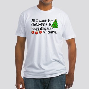 Dance Teacher Christmas Fitted T-Shirt