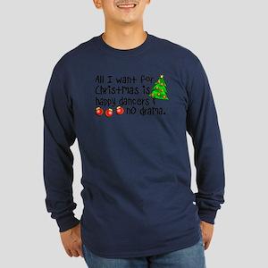 Dance Teacher Christmas Long Sleeve Dark T-Shirt