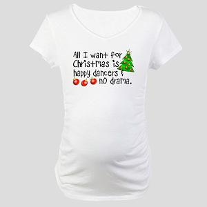 Dance Teacher Christmas Maternity T-Shirt