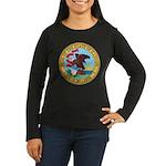 Illinois Seal Women's Long Sleeve Dark T-Shirt