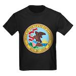 Illinois Seal Kids Dark T-Shirt
