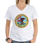 Illinois Seal Women's V-Neck T-Shirt