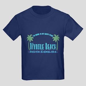 Myrtle Beach Happy Place - Kids Dark T-Shirt