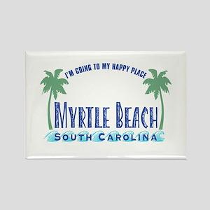 Myrtle Beach Happy Place - Rectangle Magnet