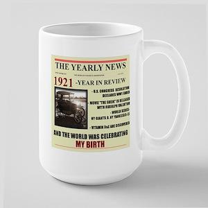 born in 1921 birthday gift Large Mug