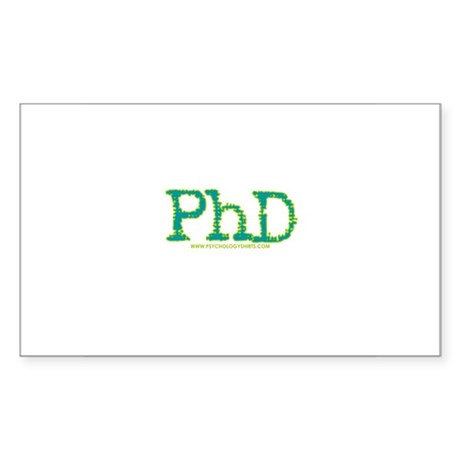 PhD Rectangle Sticker