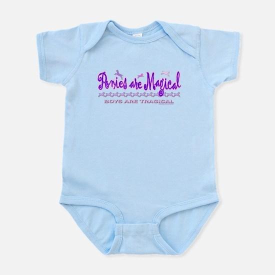 PONIES ARE MAGICAL Infant Bodysuit