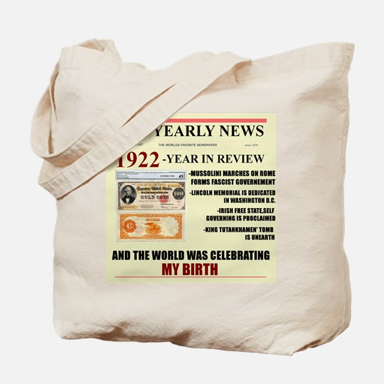 born in 1922 birthday gift Tote Bag