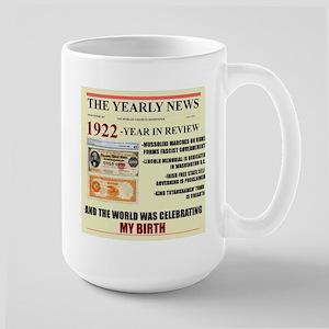 born in 1922 birthday gift Large Mug