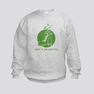 EARTH IS OUR DIRECTIVE Kids Sweatshirt
