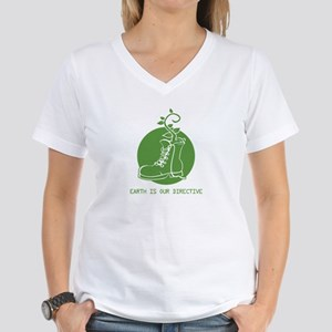 EARTH IS OUR DIRECTIVE Women's V-Neck T-Shirt