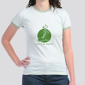 EARTH IS OUR DIRECTIVE Jr. Ringer T-Shirt