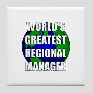 World's Greatest Regional Man Tile Coaster
