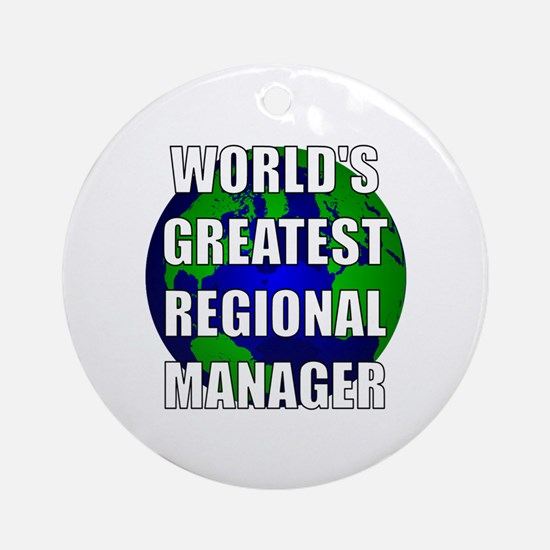 World's Greatest Regional Man Ornament (Round)