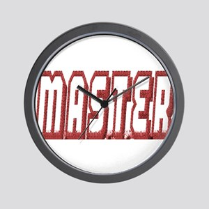 MASTER--OUTLINED IN RED Wall Clock