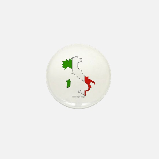 Italy Flag Map Mini Button